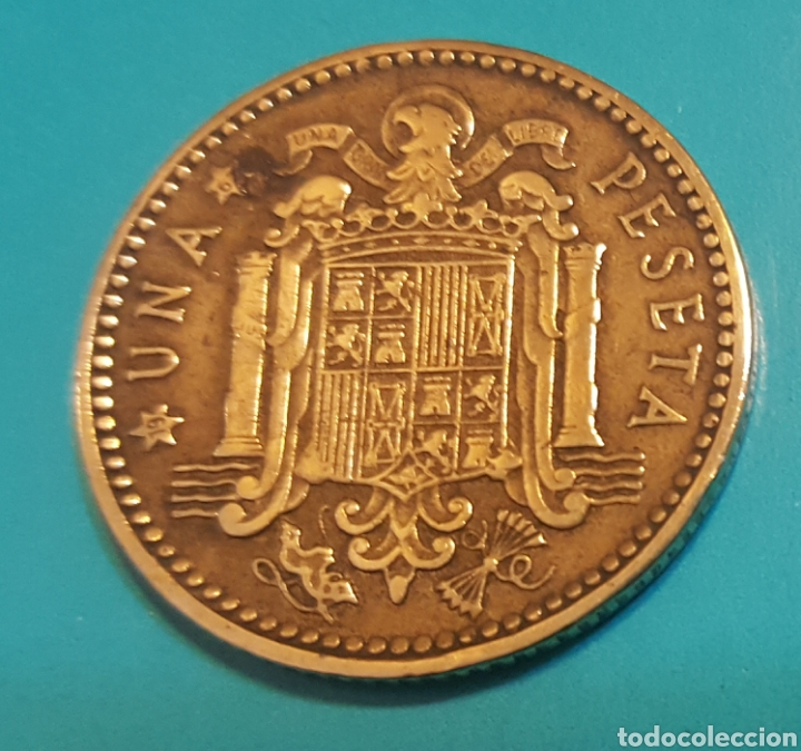 Monedas Franco: MONEDA DE UNA PESETA 1963 *67 - Foto 2 - 230430740