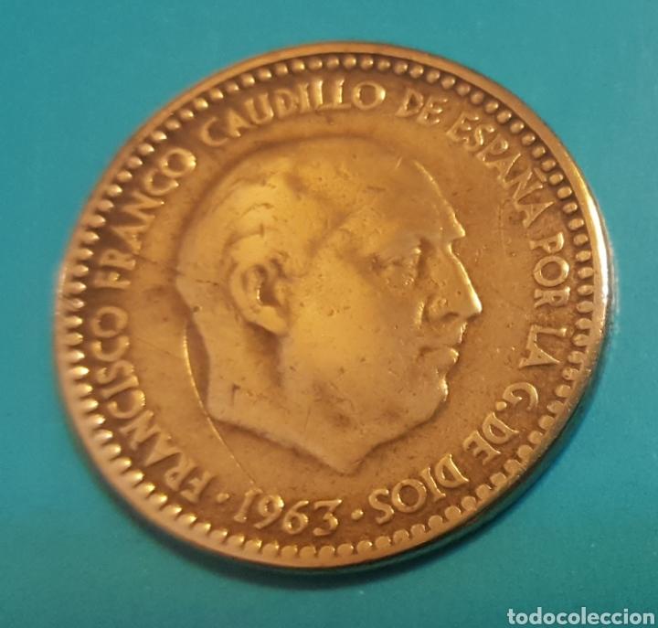 MONEDA DE UNA PESETA 1963 *67 (Numismática - España Modernas y Contemporáneas - Estado Español)
