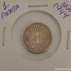 Monnaies Franco: 1 PESETA 1944. Lote 230926790