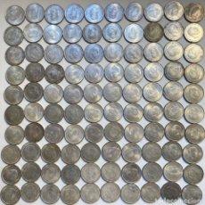 Monnaies Franco: 100 PESETAS PLATA FRANCO 1966, LOTE DE 100 MONEDAS. Lote 232300140