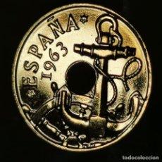 Monnaies Franco: #AB006. ORO 24KT. IMPRESCINDIBLE VER DESCRIPCIÓN. 50 CÉNTIMOS 1963 *65. Lote 233050400