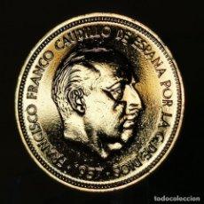 Monete Franco: AB013. ORO 24KT. IMPRESCINDIBLE VER DESCRIPCIÓN. 50 PESETAS 1957 *58. Lote 233050483