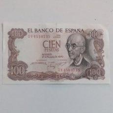 Monnaies Franco: BILLETE 100 PESETAS 1970. Lote 233448675