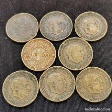 Monete Franco: A16. SERIE COMPLETA 1947!!! TAMBIÉN 1944. NO INCLUYE EL ERROR 1947 *56. 30G. VER DESCRIPCIÓN. Lote 233466220