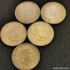 Monete Franco: A22. EXCELENTES EJEMPLARES HASTA SIN CIRCULAR!!! SERIE COMPLETA 1 PESETA 1963. VER DESCRIPCIÓN. Lote 233467255