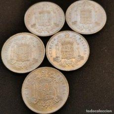 Monete Franco: A24. EXCELENTES EJEMPLARES HASTA S/C-!!! 5 PIEZAS 5 PESETAS 1949 *50. VER DESCRIPCIÓN. Lote 233467350