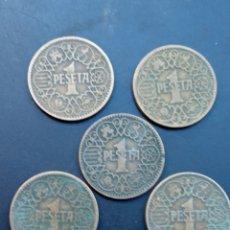 Monedas Franco: LOTE DE 5 PTS DEL UNO 1944.. Lote 233675890