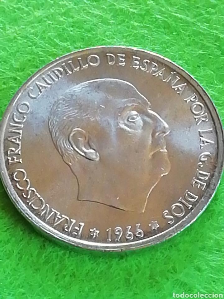 100 PESETAS DE PLATA DE 1966 ESTRELLA 68. MUY BIEN CONSERVADA. (Numismática - España Modernas y Contemporáneas - Estado Español)