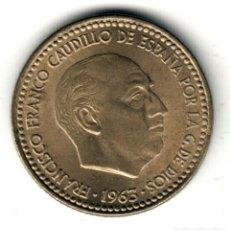 Moedas Franco: ESTADO ESPAÑOL: 1 PESETA 1963 *19* *66* CALIDAD S/C FRANCISCO FRANCO. Lote 234317380