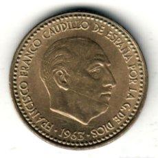 Moedas Franco: ESTADO ESPAÑOL: 1 PESETA 1963 *19* *64* CALIDAD S/C FRANCISCO FRANCO. Lote 234317940