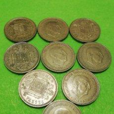 Monedas Franco: LOTE DE 9 MONEDAS DE PESETAS 1966 ESTRELLA 73. MUY BIEN CONSERVADAS.. Lote 234353750