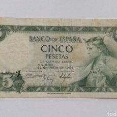 Monnaies Franco: BILLETE 5 PESETAS 1954 ALFONSO X. Lote 234729175