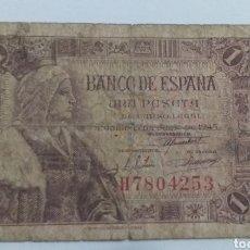 Monnaies Franco: 1 PESETA 1945 ISABEL LA CATOLICA. Lote 234784215