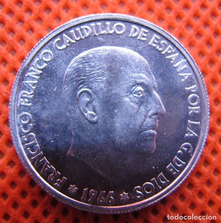 MONEDA 50 CÉNTIMOS DE 1966 ESTRELLA 70 (PRUEBA), MUY DIFÍCIL DE ENCONTRAR, SIN CIRCULAR (Numismática - España Modernas y Contemporáneas - Estado Español)