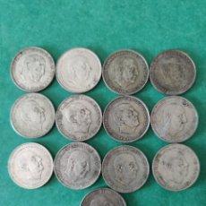 Monedas Franco: LOTE DE 13 MONEDAS DE 100 PESETAS DE PLATA DE FRANCISCO FRANCO. Lote 234835980