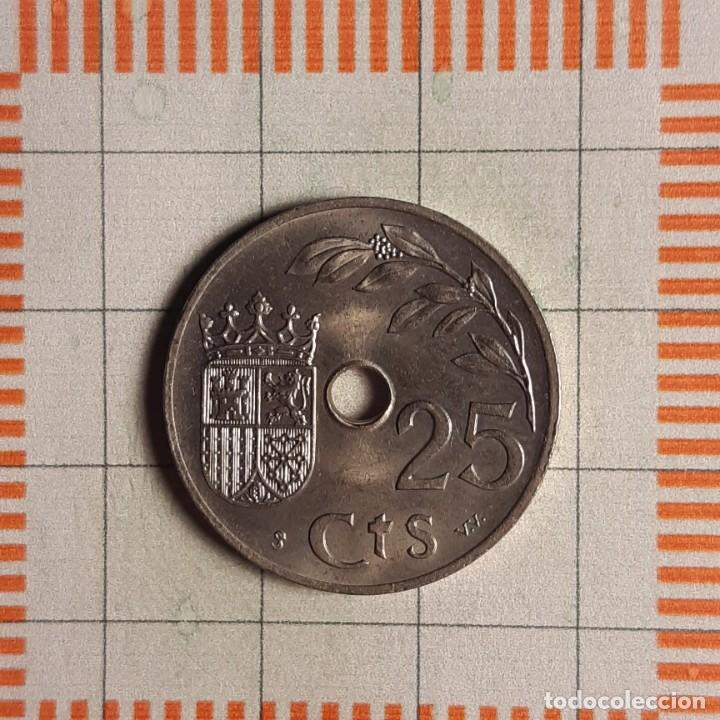 Monedas Franco: ESTADO ESPAÑOL, 25 CÉNTIMOS 1937 - Foto 2 - 234935165