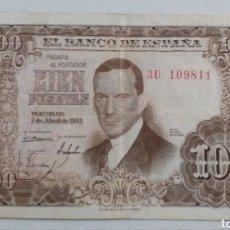 Moedas Franco: BILLETE 100 PESETAS 1953. Lote 234996670