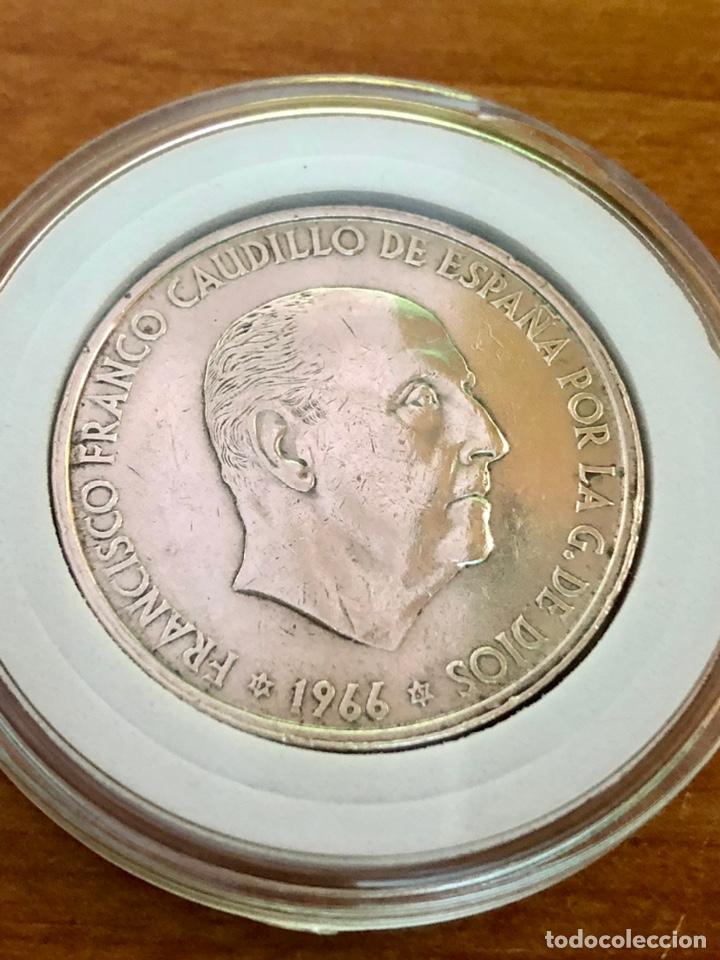 100 PESETAS-PLATA-FRANCO 1966*67-ENCAPSULADA (Numismática - España Modernas y Contemporáneas - Estado Español)