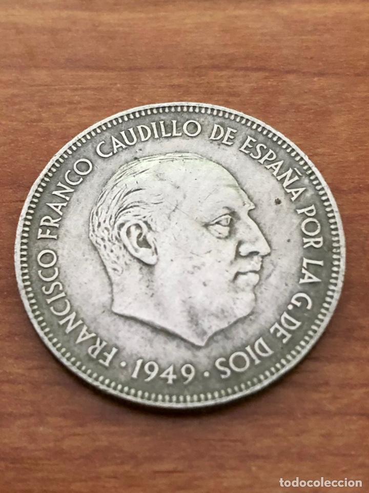 5 PESETAS DE 1949 *50 -DURO CABEZON (Numismática - España Modernas y Contemporáneas - Estado Español)