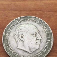 Monedas Franco: 5 PESETAS DE 1949 *50 -DURO CABEZON. Lote 235197420