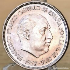 Monedas Franco: ⚜️ B2232. SIN CIRCULAR. 25 PESETAS 1957 *65. AB159. Lote 235219520