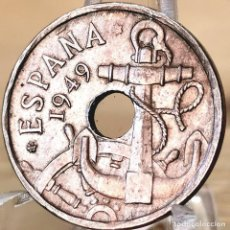 Monedas Franco: AB168. ERROR S/C. 50 CÉNTIMOS 1949, ESTRELLA ANEPIGRAFA. Lote 235219920