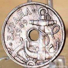 Monedas Franco: AB170. ERROR, S/C-. 50 CÉNTIMOS 1949 *52. AGUJERO MÁS PEQUEÑO. Lote 235220035