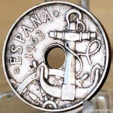 Monedas Franco: AB174. ERROR. 50 CÉNTIMOS 1963 *64. REPINTES. Lote 235221180