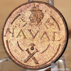 Monedas Franco: AB176. PRUEBA, S/C. 1 PESETA 1948, PRUEBA DE MÁQUINAS TALLERES SAN CARLOS. COINCIDENTE. Lote 235221405