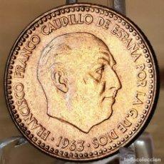 Monedas Franco: AB177. ERROR, S/C. 1 PESETA 1966 *65. REPINTES. Lote 235221655