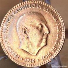 Monedas Franco: *AB180. ERROR EXTREMO!!! 1 PESETA 1966 *74. 2,2G (-37%!!!). COSPEL MÁS FINO Y PEQUEÑO. Lote 235320885