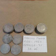 Monedas Franco: MONEDAS DE CINCO PESETAS. Lote 235472050