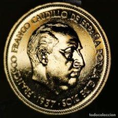 Monnaies Franco: #AB021. ORO 24KT. IMPRESCINDIBLE VER DESCRIPCIÓN. 25 PESETAS 1957 *75. Lote 235673170