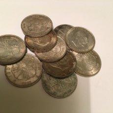 Monedas Franco: LOTE 10 MONEDAS DE PLATA DE 1966. Lote 236066290