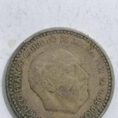 Monedas Franco: MONEDA UNA PESETA 1953, ESTRELLA 54. Lote 236246305