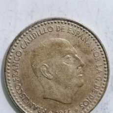Monedas Franco: MONEDA UNA PESETA 1966, ESTRELLA 75. Lote 236248325
