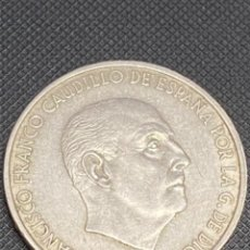 Monedas Franco: MONEDA PLATA 100 PESETAS 1966 DE FRANCO ESTRELLAS (*19-70).. Lote 237161780