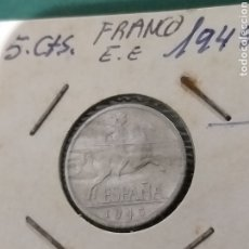 Monedas Franco: 5 CÉNTIMOS 1945, EBC. Lote 237169815