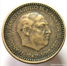 Monnaies Franco: ⚜️ 1 PESETA 1947 *51. #AB285. Lote 237829300