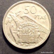 Monedas Franco: 50 PESETAS DE 1957 ESTRELLA 58. EN EL CANTO: UNA GRANDE LIBRE.. Lote 237964170
