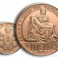 Monedas Franco: VATICANO 10 EURO ARTE Y FE PIEDAD DE MIGUEL ÁNGEL MONEDA DE COBRE DE VALOR REAL. Lote 241249675