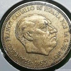 Monedas Franco: ANTIGUA MONEDA DE 2,5 PESETAS DE 1953 ESTRELLA 54..DIRIA QUE SIN CIRCULAR. CASI NUEVA.C 1665. Lote 241509920