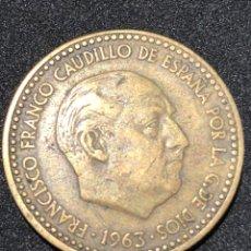 Monedas Franco: MONEDA DE 1 PESETA DE 1963 CON ESTRELLA DEL 63.. Lote 241555735