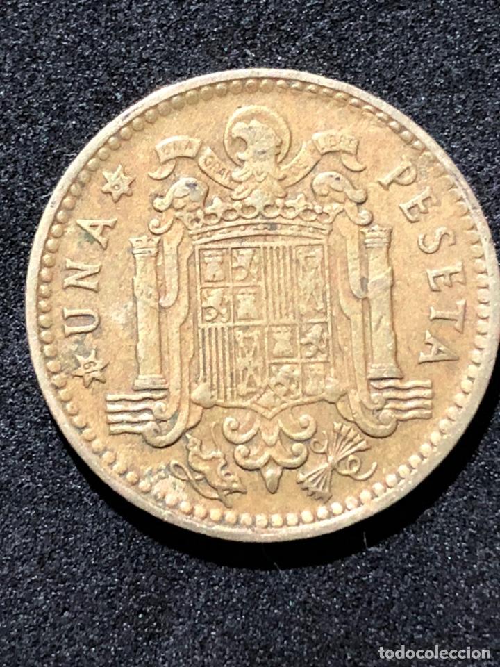 Monedas Franco: Moneda de 1 peseta de 1966 con estrella del 67. - Foto 2 - 241943650