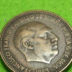 Monedas Franco: ANTIGUA MONEDA DE 2.50 PESETAS DE 1953 ESTRELLA 54. ADJUNTO PEDIDOS. Lote 241960245