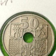 Monedas Franco: ANTIGUA MONEDA DE 50 CENTIMOS FLECHAS INVERTIDAS DE 1949 ESTRELLA 51. MUY BIEN CONSERVADA.. Lote 242389355
