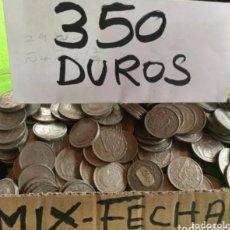 Monedas Franco: SÚPER LOTE DE 350 MONEDAS DE 5 PESETAS DE 1957. SURTIDO DE TODAS LAS ESTRELLAS. ENVÍO 6€. Lote 243236080