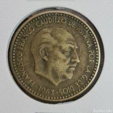 Monedas Franco: 1 PESETA 1963 *67 MBC MUY BIEN CONSERVADA. Lote 243347140