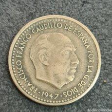 Monedas Franco: 1 PESETA 1947 *56 MBC MUY ESCASA Y CARA EN ESTE ESTADO SE VE EL 56 PERFECTAMENTE. Lote 243348170