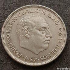 Monedas Franco: 25 PESETAS 1957 *75. Lote 243419620